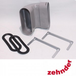Zehnder ComfoFresh - Curve duct Flat 51 V vertical deflection 90 °