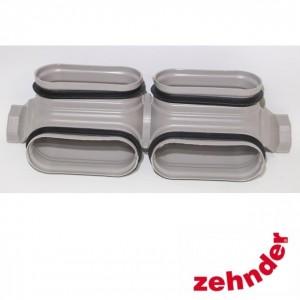 Zehnder ComfoFresh - Bocht dubbelkanaal CK 300 V verticale afbuiging 90°