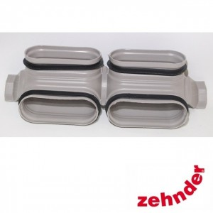 Zehnder ComfoFresh - Twin duct bend CK300 V - vertical  90 °