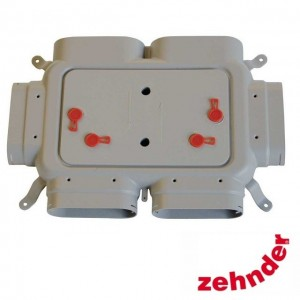Zehnder ComfoFresh - Luchtverdeelkast Flat 51-4