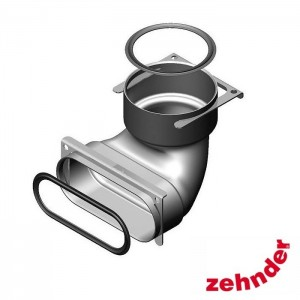 Zehnder ComfoFresh - Junction ComfoTube 90/Flat 51 - 90° bend