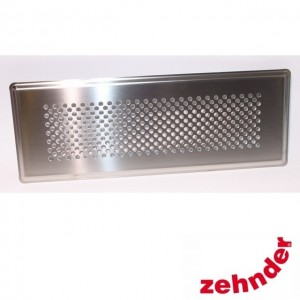 Zehnder - Supply and extract air designer grille Pisa stainless steel for CLF -  990322083