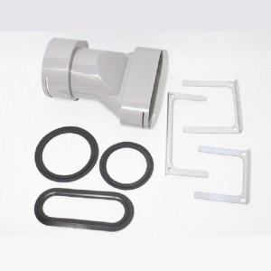 Zehnder ComfoFresh - Overgangsstuk ComfoTube 90/75 - Flat 51 - 990322013