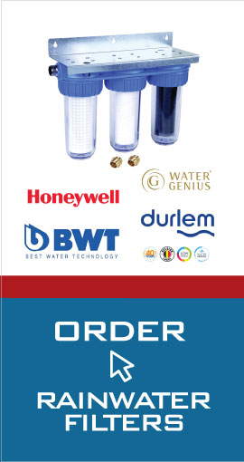 Order filters for rainwater